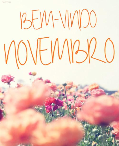 Bem Vindo Novembro - Foto com Frases