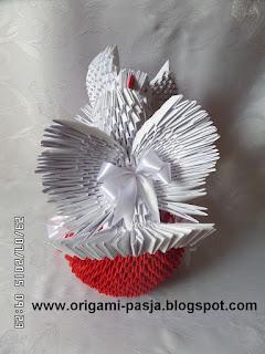 Gołębie - origami modułowe.