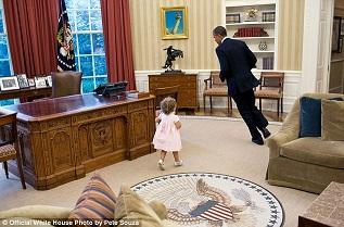 Barrack Obama di gedung putih