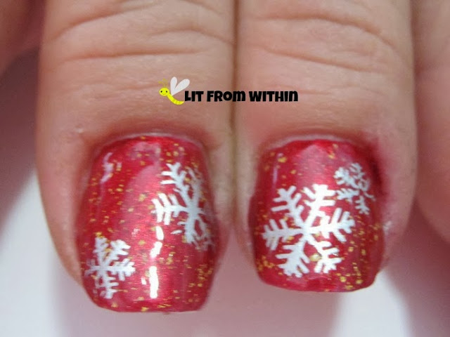 She also wanted some stamped snowflakes