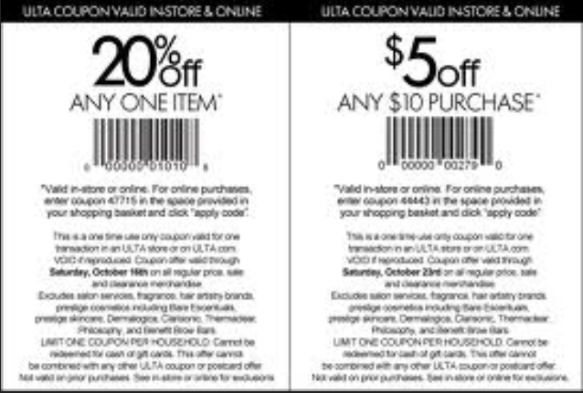 picture about Printable Cosmetic Coupons called Ulta Attractiveness Printable Discount coupons March 2015