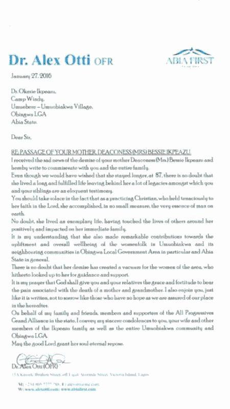 Otti Sends Condolence To Gov Ikpeazu Over Mum's Death (Screenshot)