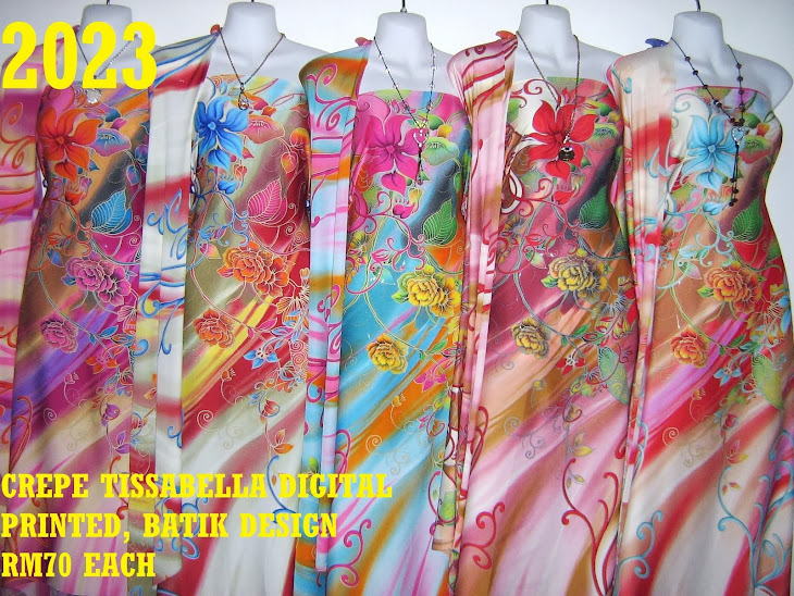 CTD 2023: BATIK CREPE TISSABELLA DIGITAL PRINTED, EXCLUSIVE DESIGN, 4 METER, 5 COLORS