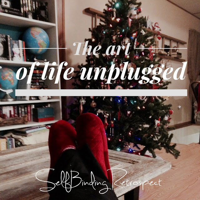 unplugged, rest, slippers, christmas tree, book shelf