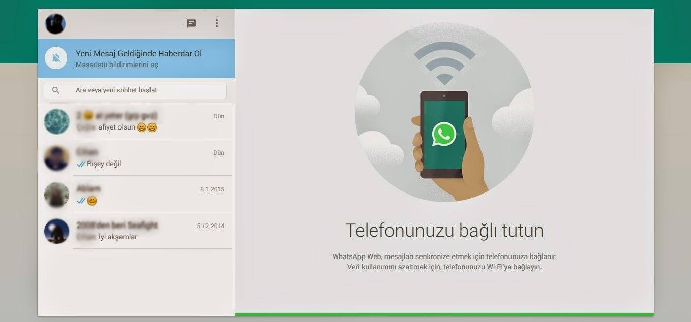Bilgisayar'da WhatsApp
