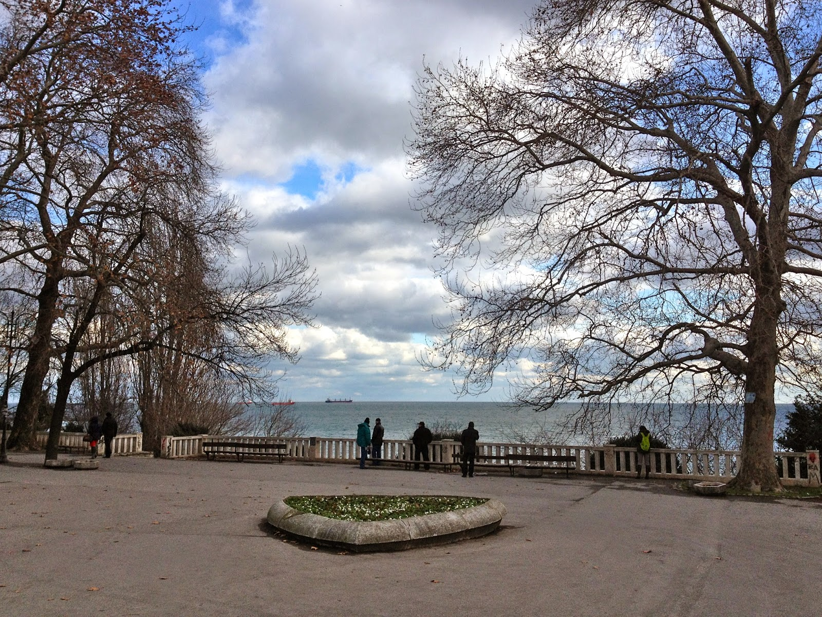 Photo of the sea garden in Varna, Bulgaria.