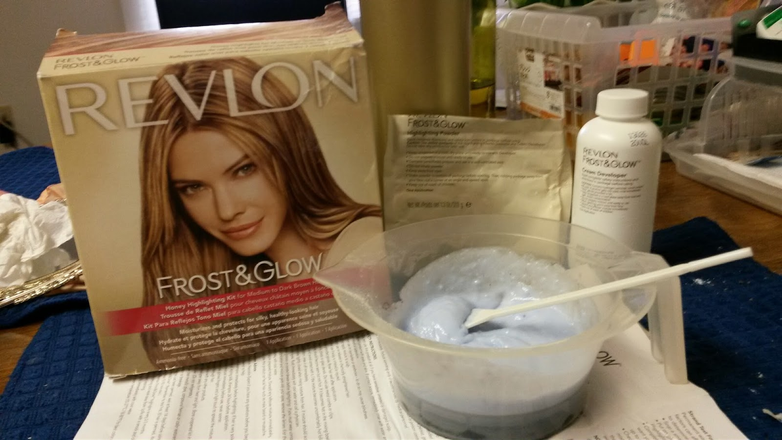 To Save On Hair Streaks Or Highlight, It Would Be Better To Do It Yourself  By Using Revlon Frost U0026 Glow. Although The Box Instructions Would Say Mix  The ...