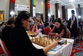 Natalija Pogonina (2451) 0-1 Ekaterini Pavlidou (2176) © site officiel