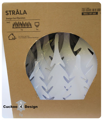 Ikea Strla white forest light