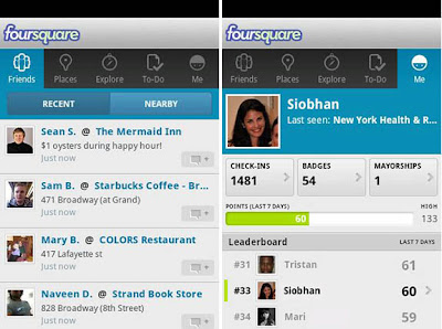 Foursquare For Android Gets Update