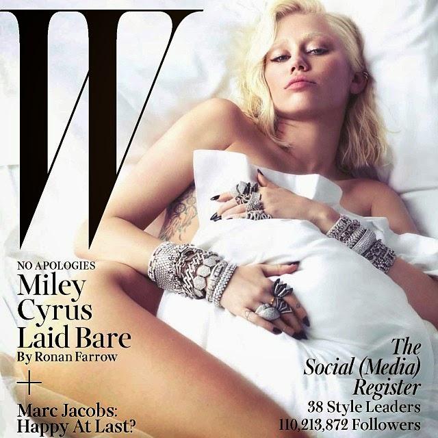 Miley Cyrus desnuda es la nueva portada W Magazine marzo 2014