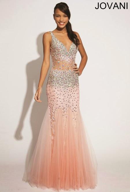 Бална рокля с дълбоко деколте Jovani 2014