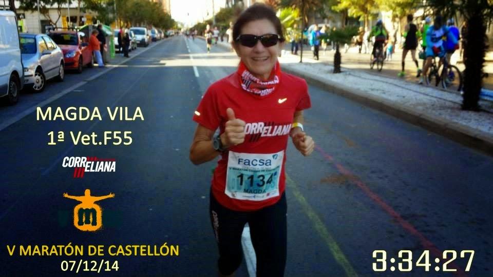 "MAGDA VILA, 1ª VET.F55 ""5º MARATÓN CASTELLÓN"""