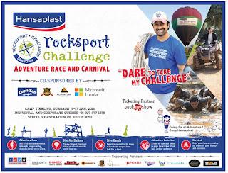 ADVENTURE RACE sports @ Rocksport Challenge - Gurgaon