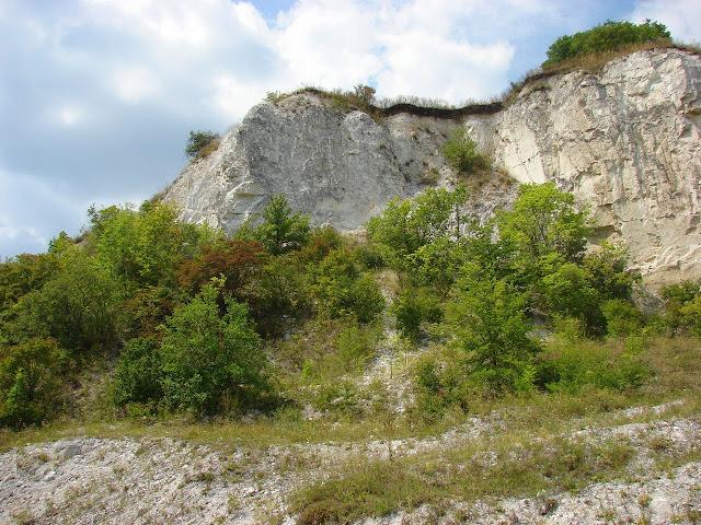 Каньоны Харьковской области: меловая скала