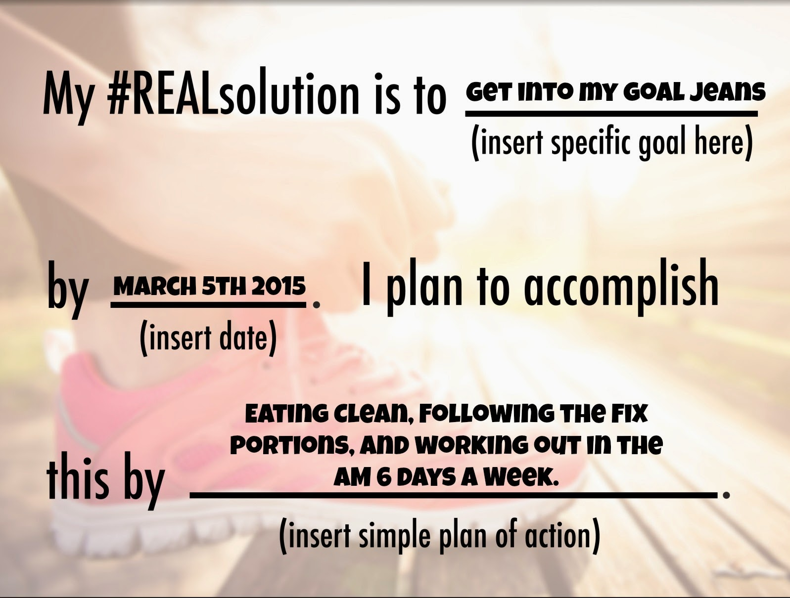 Resolution, New Year, lose weight, eat healthy, real solution, 2015, Sara Stakeley, Sarastakeley.com, small goals, goal jeans,