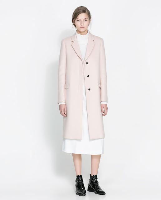 pale pink coat