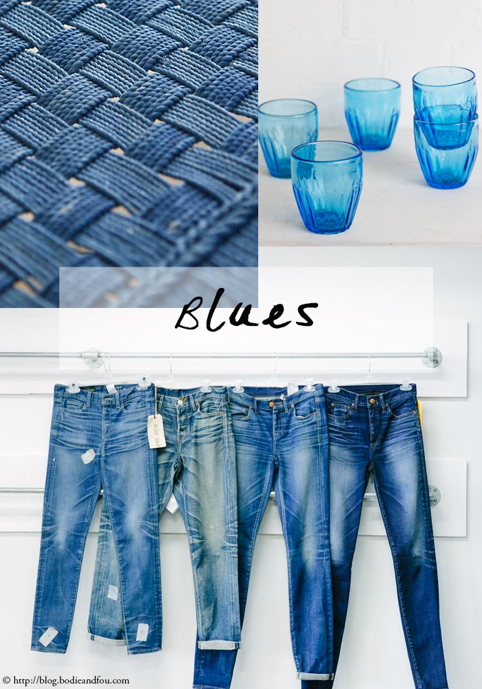 Gorgeous blue moodboard, indigo for an Indian Summer. Read more >> http://blog.bodieandfou.com/