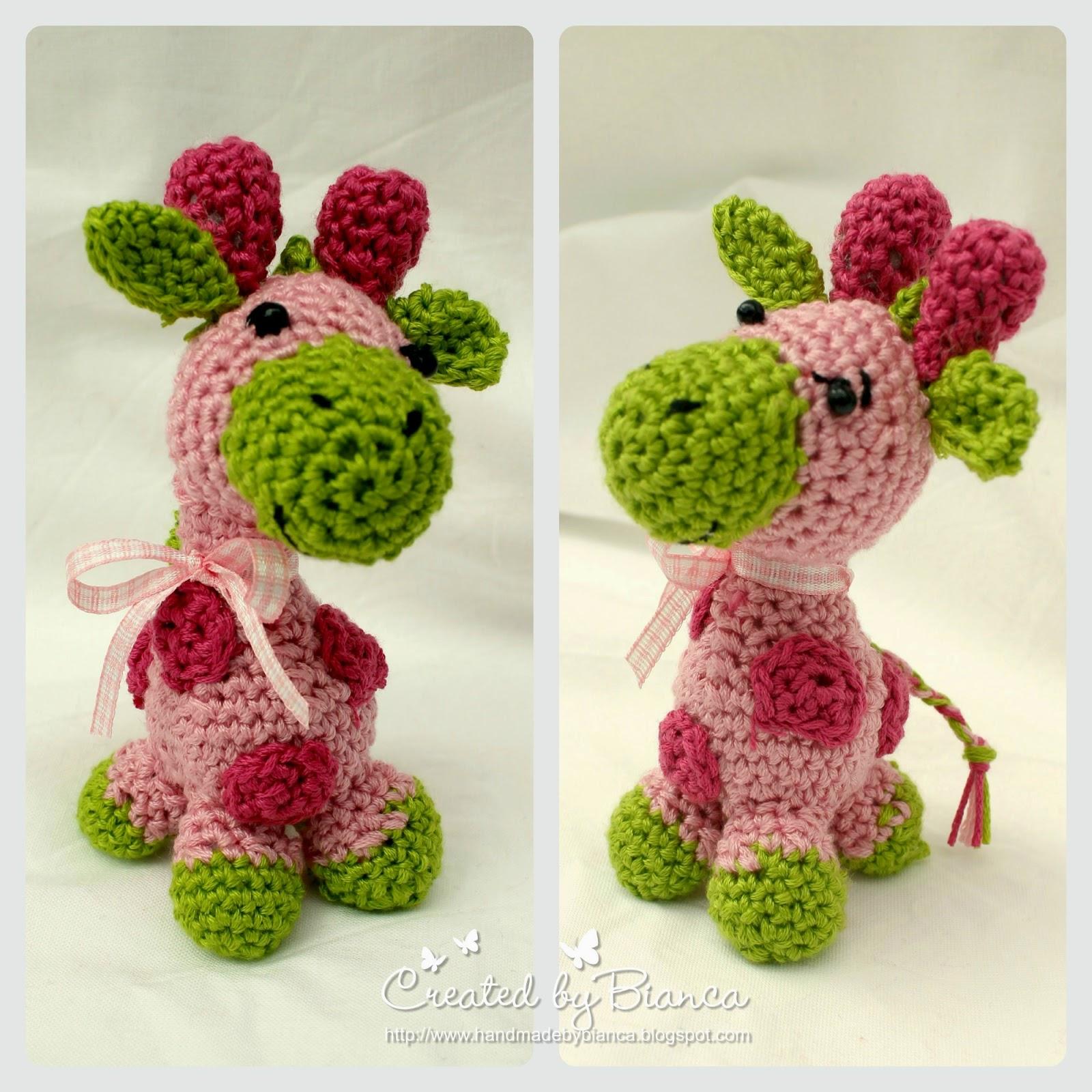 Handmade by Bianca: Häkeln im Krankenhaus, Mini Giraffe