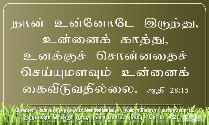 Todays Tamil And English Promise Cards