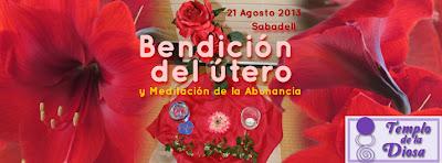 Bendición del útero y meditación de la Abundancia de Miranda Gray en Sabadell