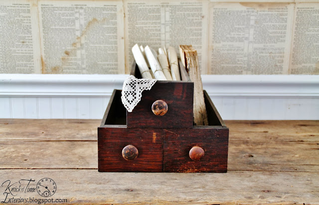 Antique Drawer, Old Kitchen Cooking Pots, Vintage Tricycle, Antique Sewing Drawers, Antique Dustpan, Silver Serving Tray, Vintage Dictionary, Hand Painted Sign, Antique Silverware via Knick of Time