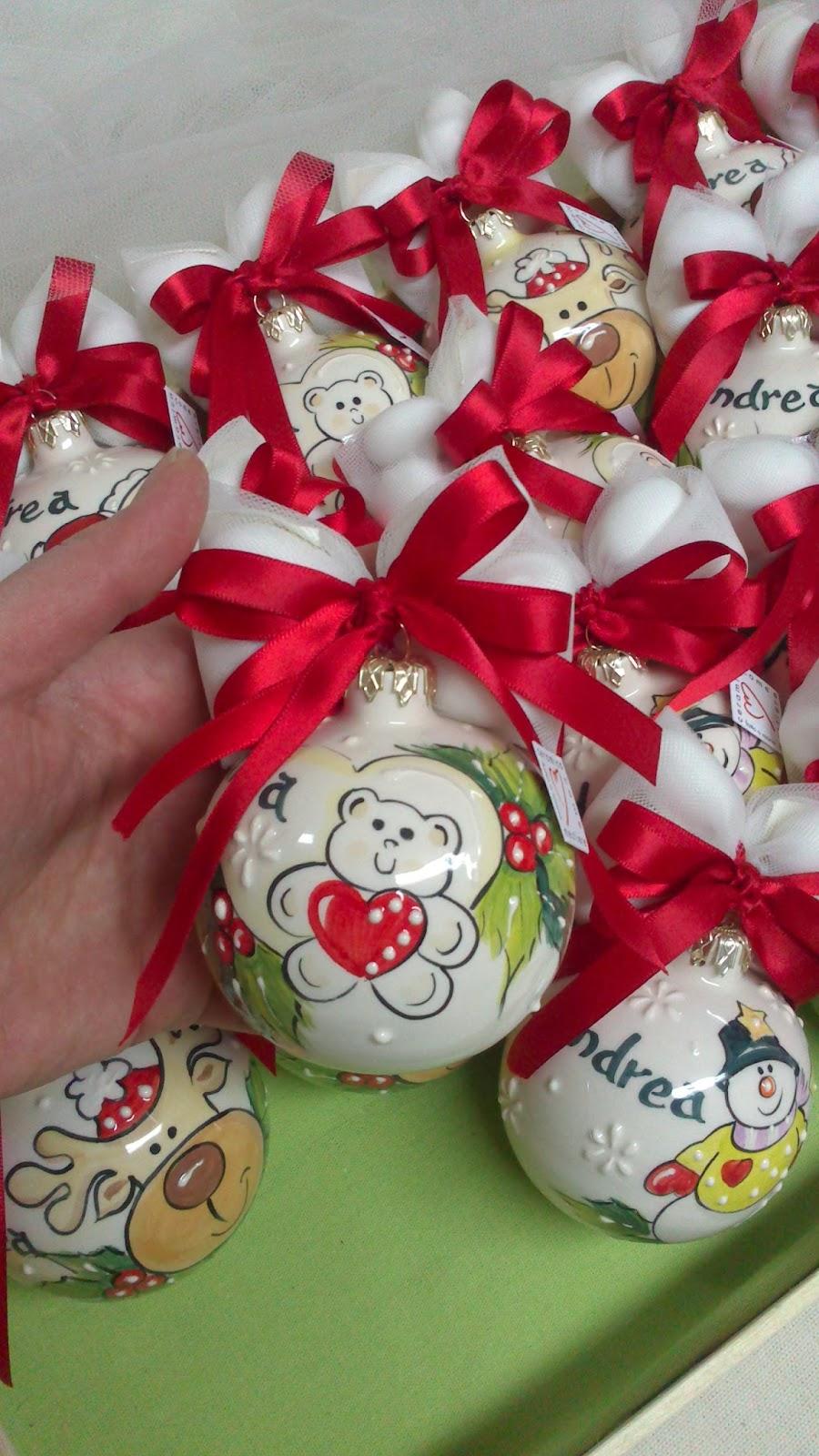 Bomboniere Matrimonio Periodo Natalizio : Ceramica come mestiere palline di natale bomboniera