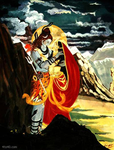 Lord Shiva & Parvathi 2