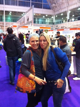 Alessandra Pecorrela & Me at the London Yoga Show