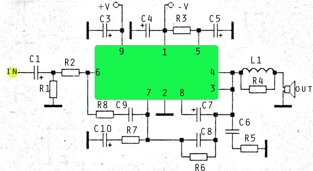 60w ics amplifier with om961 subwoofer bass amplifier rh subwooferbass amplifiercircuit blogspot com 6L6 Tube Amplifier Schematic Amplifier Schematic Diagram