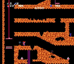 Screenshot of NES game Spelunker