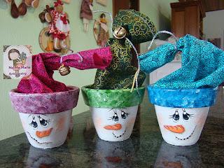 Vaso decorado como embalagem de presente de natal