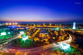 Tan Son Nhat international airport night