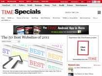 Los 50 mejores sitios web de 2011 Revista Time