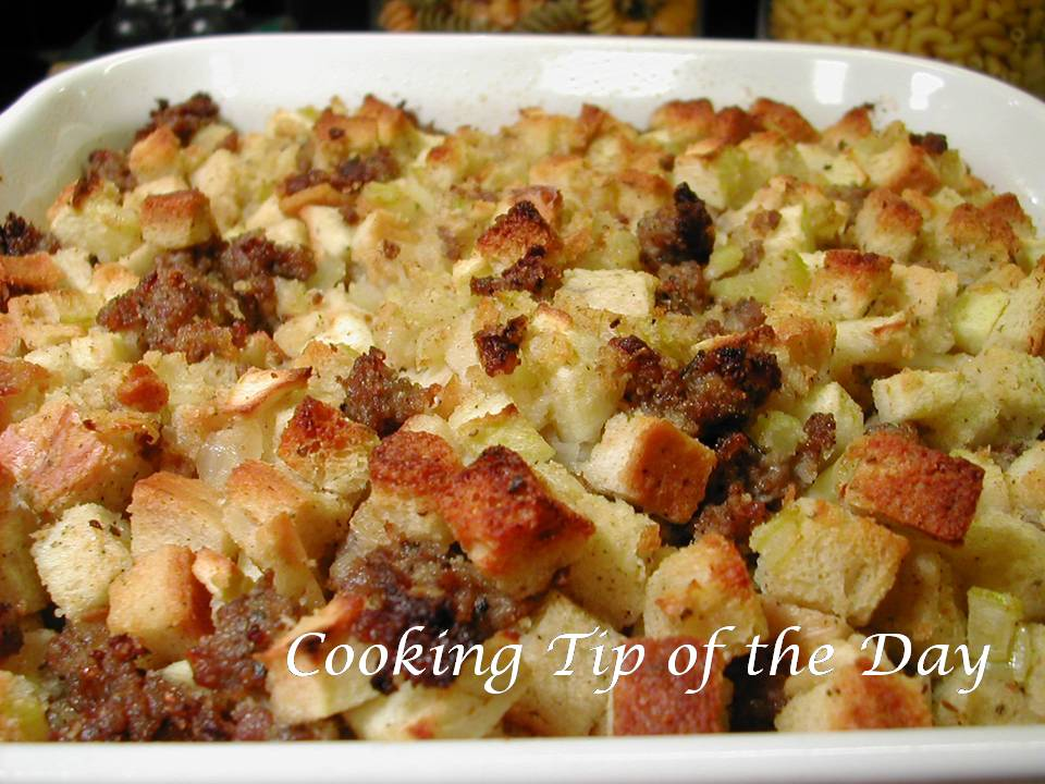 ... Tip of the Day: Three Great Bread Stuffing Recipes.. and Easy Too