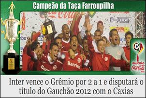 Inter Campeão da Taça Farroupilha RS