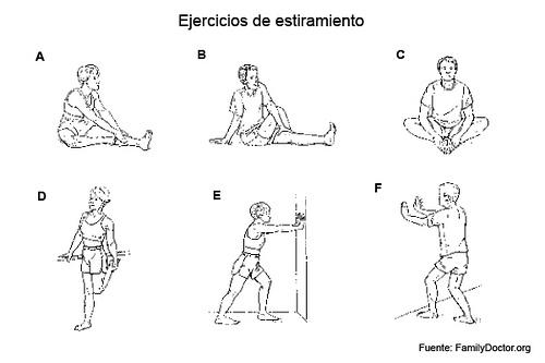 Atletismo c p enrique de osso ejercicios de for Estiramientos oficina
