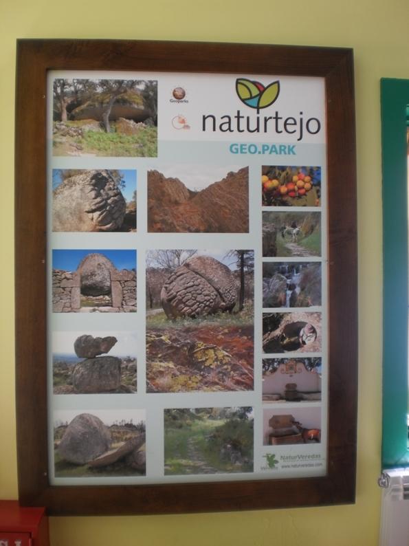 Quadro do parque Geológico naturtejo