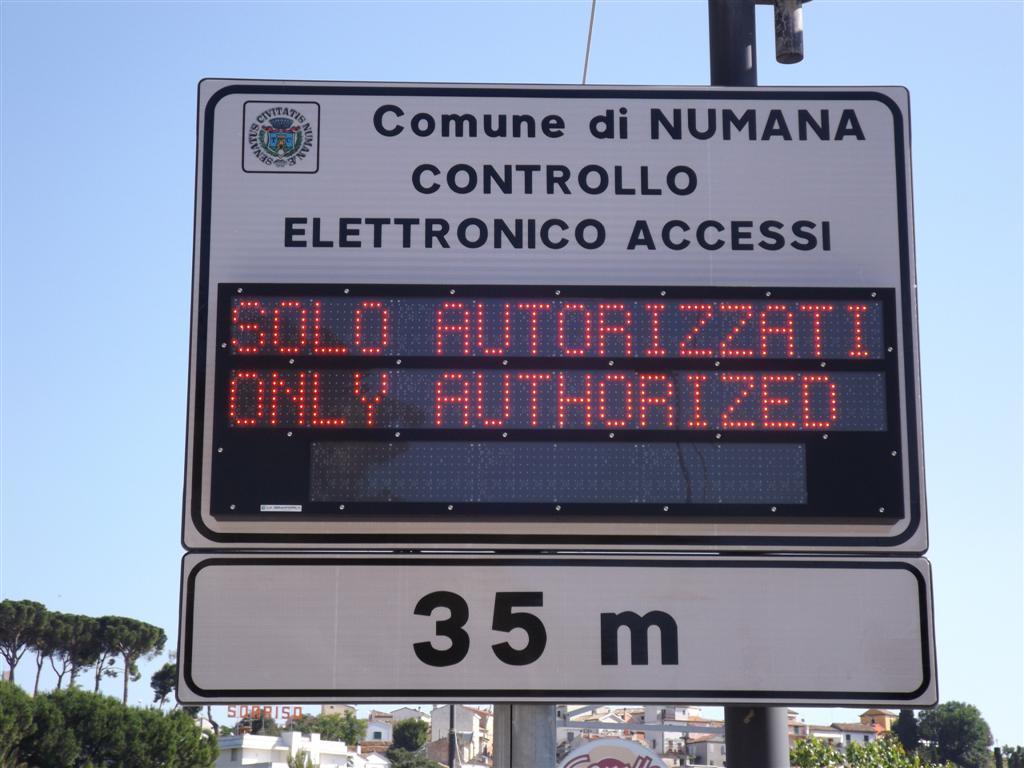 Varchi elettronici a Numana