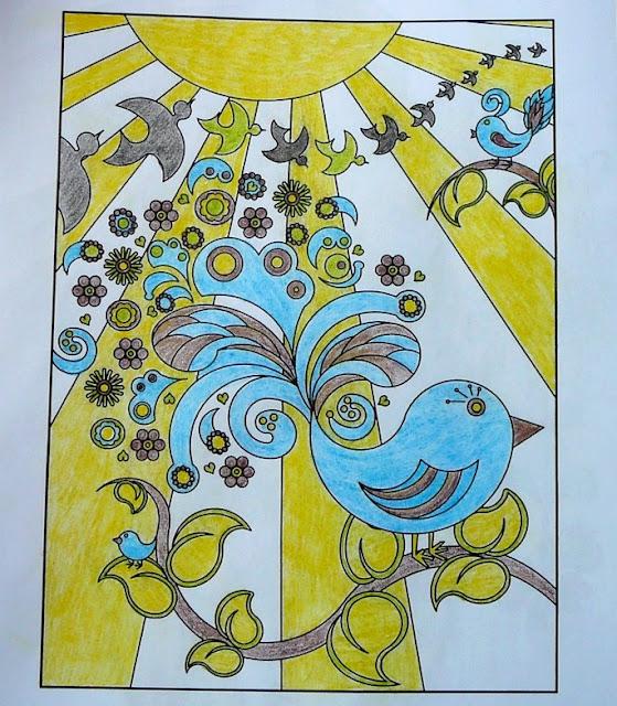 kolorowanka ptaszki