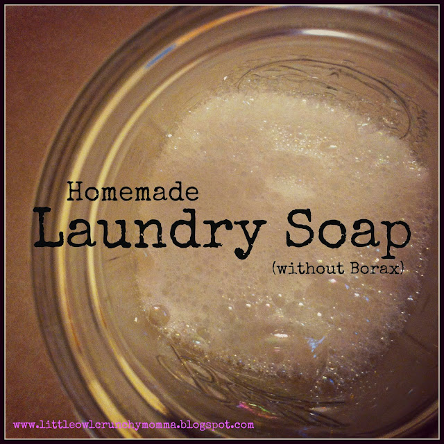 how to make powdered laundry detergent without borax