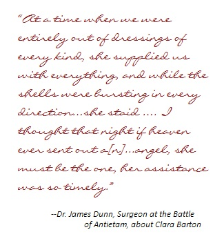 Quote from Dr James Dunn about Clara Barton