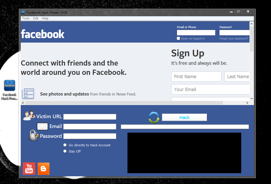 How to hack facebook for download