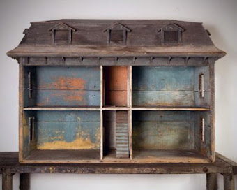 "My Massive Early American Dollhouse from the 1800s Length 5' 6"", Depth 29.5"", Height 47"""