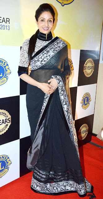 1229 - sridevi at Lion's Club 50th Anniversary Celebrations - Bollywood Actress Replica Saree