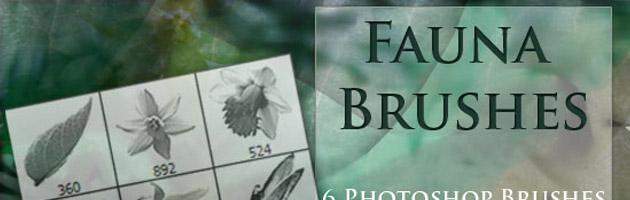 写真を使った便利な花ブラシセット | 花や草がモチーフのフリーブラシ。商用可。