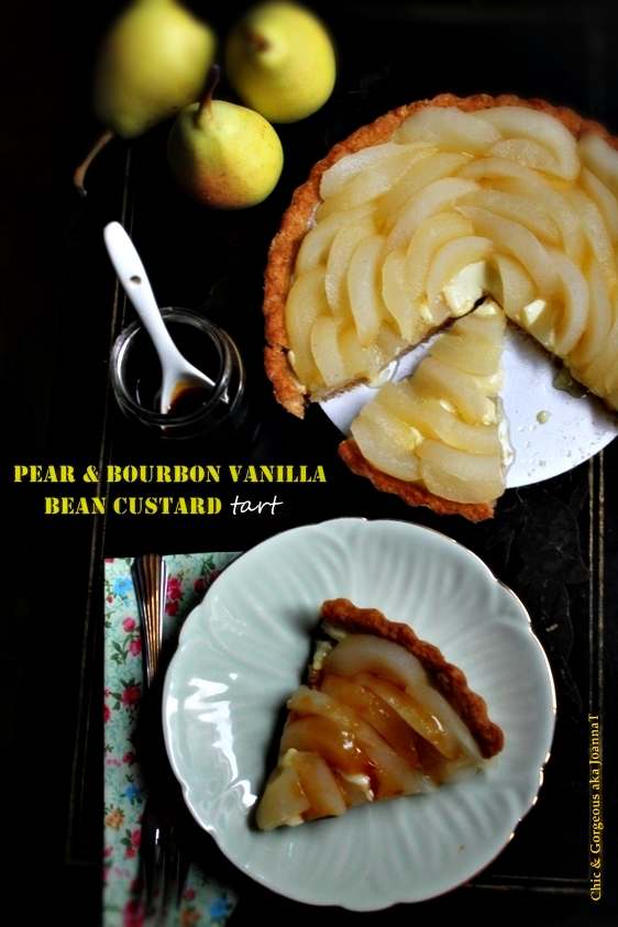 Pear & Bourbon Vanilla Bean Custard Tart + Happy New Year 2013!