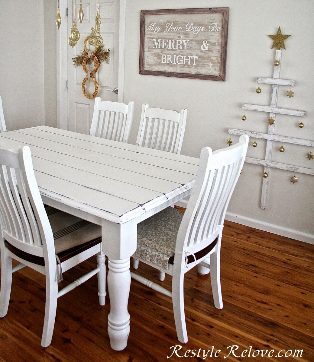 Faux Plank Farmhouse Table