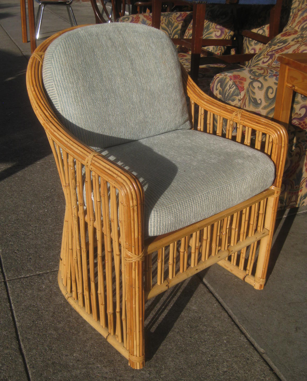 Uhuru Furniture Collectibles Sold Small Wicker Chair