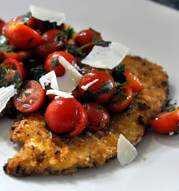 Spicy Chicken Milanese with Tomato Salad and Parmesan | Taste As You ...